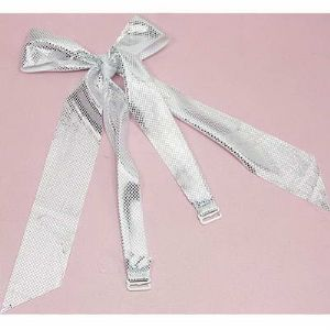Straps, Thick nylon and metal alloy, white, Silver colour, 57cm x 3.7cm, 2 pieces, (UJD0015)